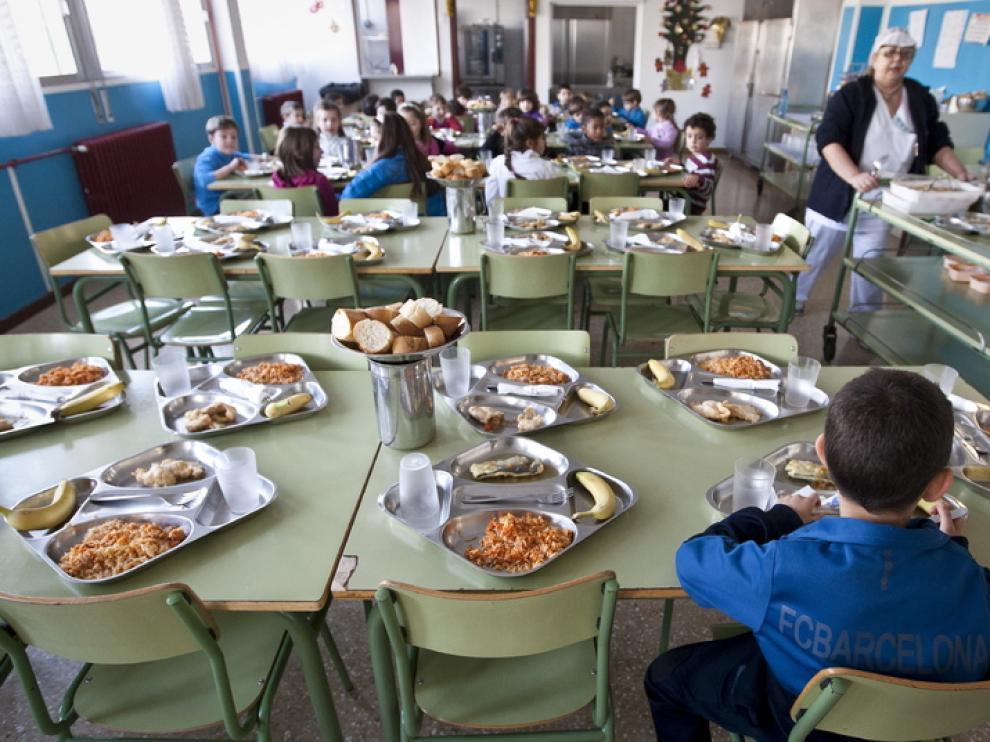 Un comedor escolar en Zaragoza
