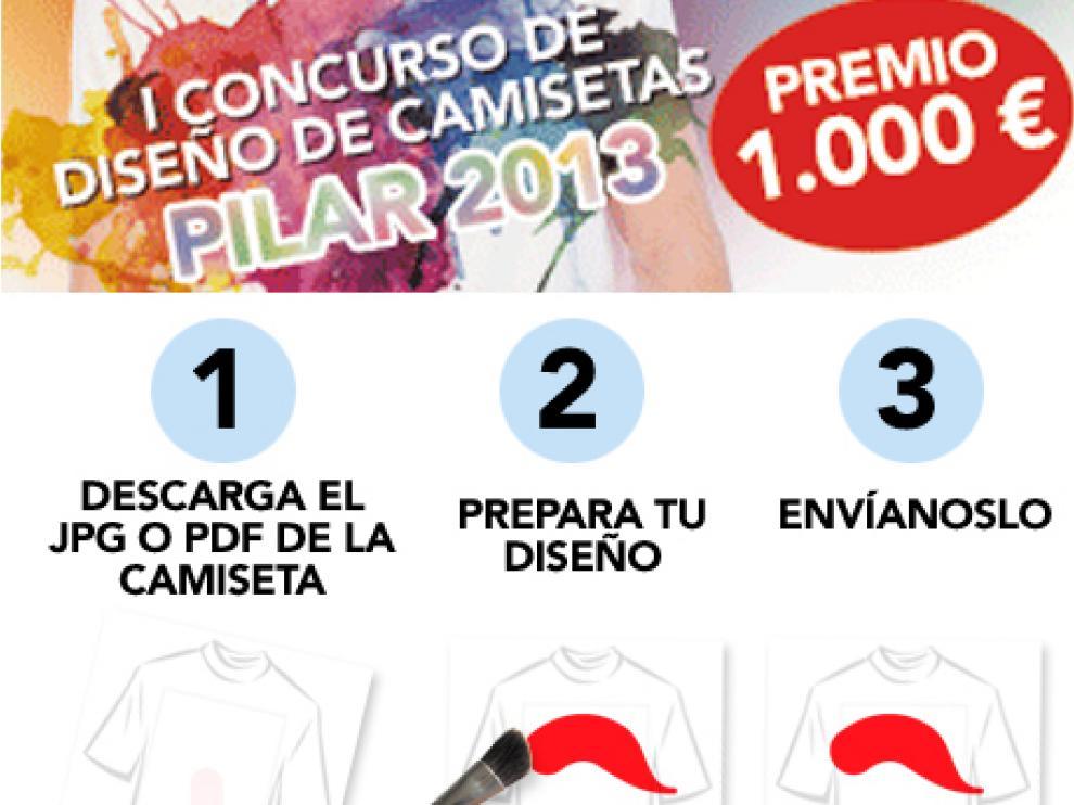 Pasos para participar en el I Concurso de diseño de camisetas Pilar 2013