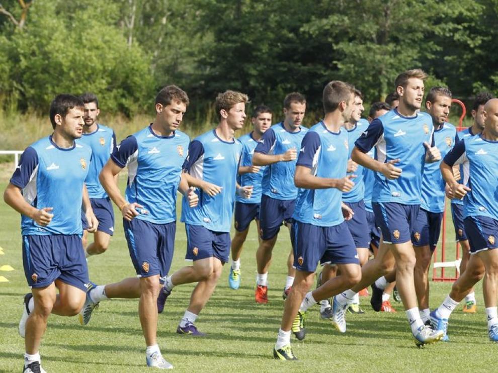El equipo aragonés continúa la pretemporada en Alcalá de la Selva.