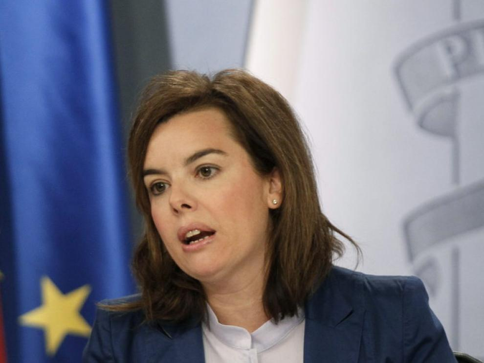 La vicepresidenta del Gobierno, Soraya Saenz de Santamaría