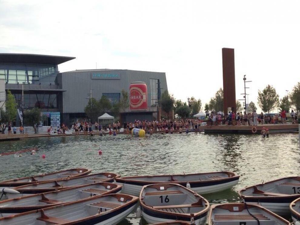 El triatlón, esta mañana en Puerto Venecia