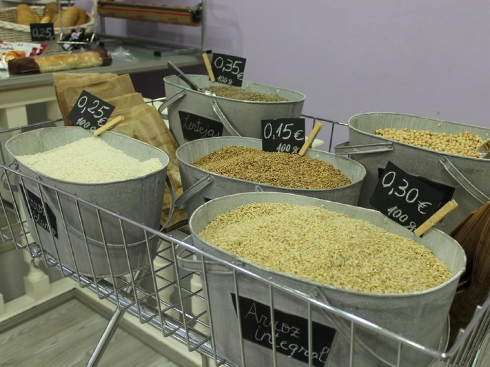 Diferentes tipos de arroz en El Gourmet del pan de Zaragoza