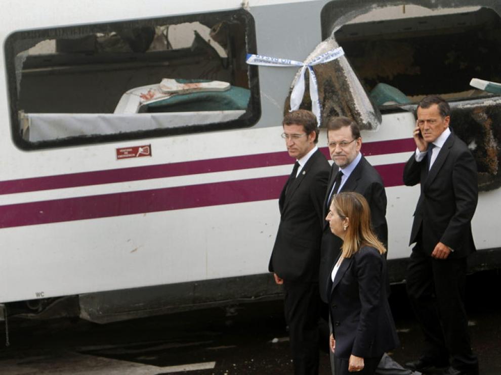 Mariano Rajoy ha visitado la zona, junto a la ministra Ana Pastor y el presidente de Galicia