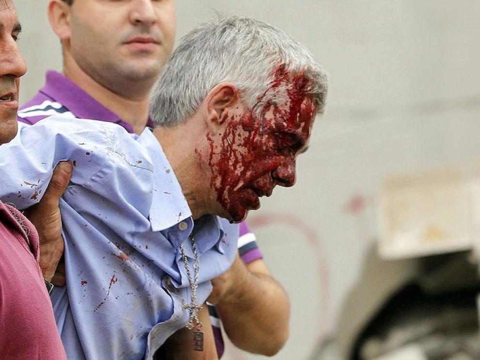 El maquinista Francisco José G.A. tras el accidente