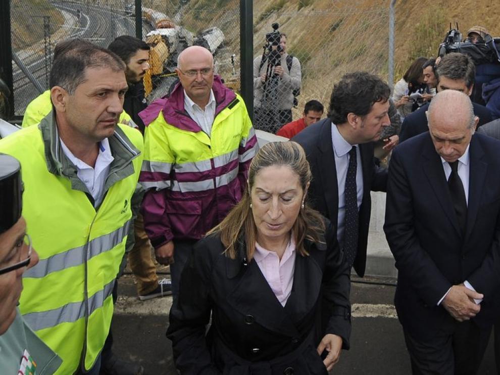 Ana Pastor ha vuelto a la zona del accidente este sábado