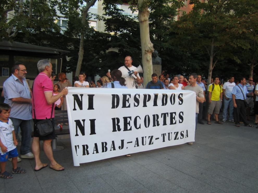 Concentración en la plaza Aragón