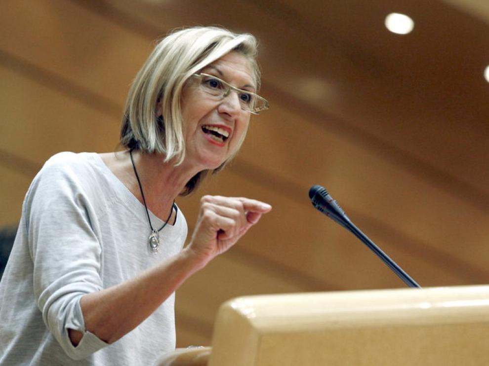La líder de UPyD, Rosa Díez, la política mejor valorada
