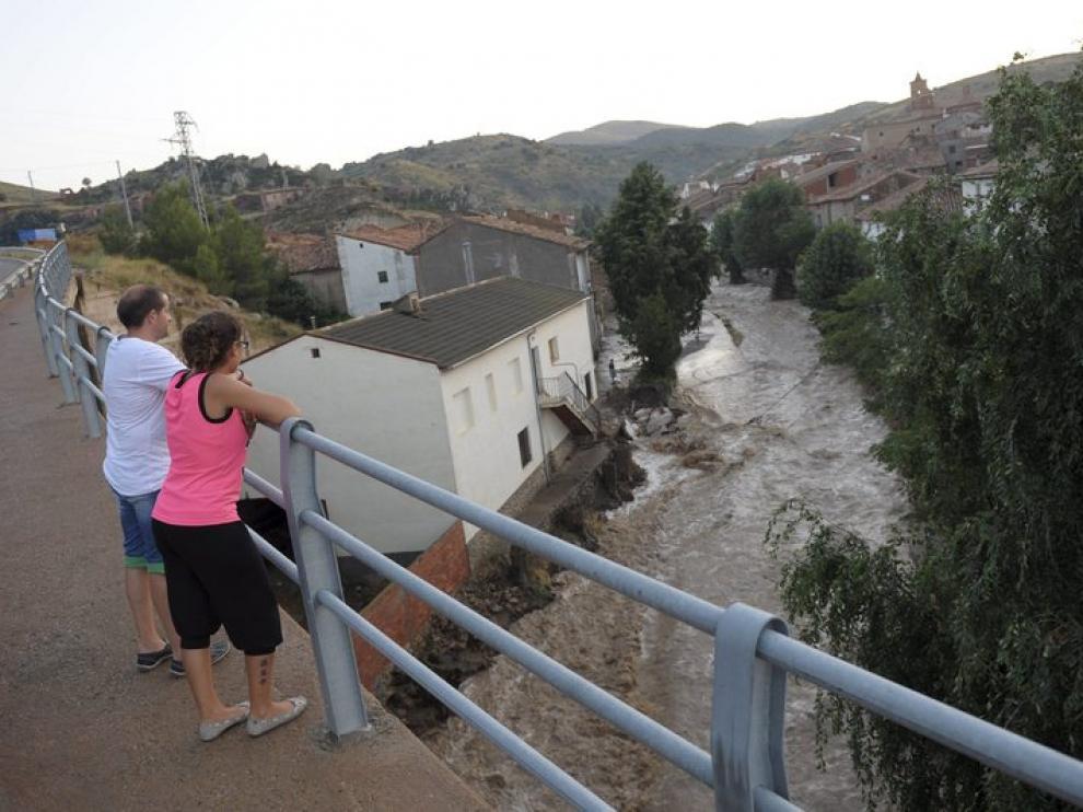 Inundación en la Hoz de la Vieja