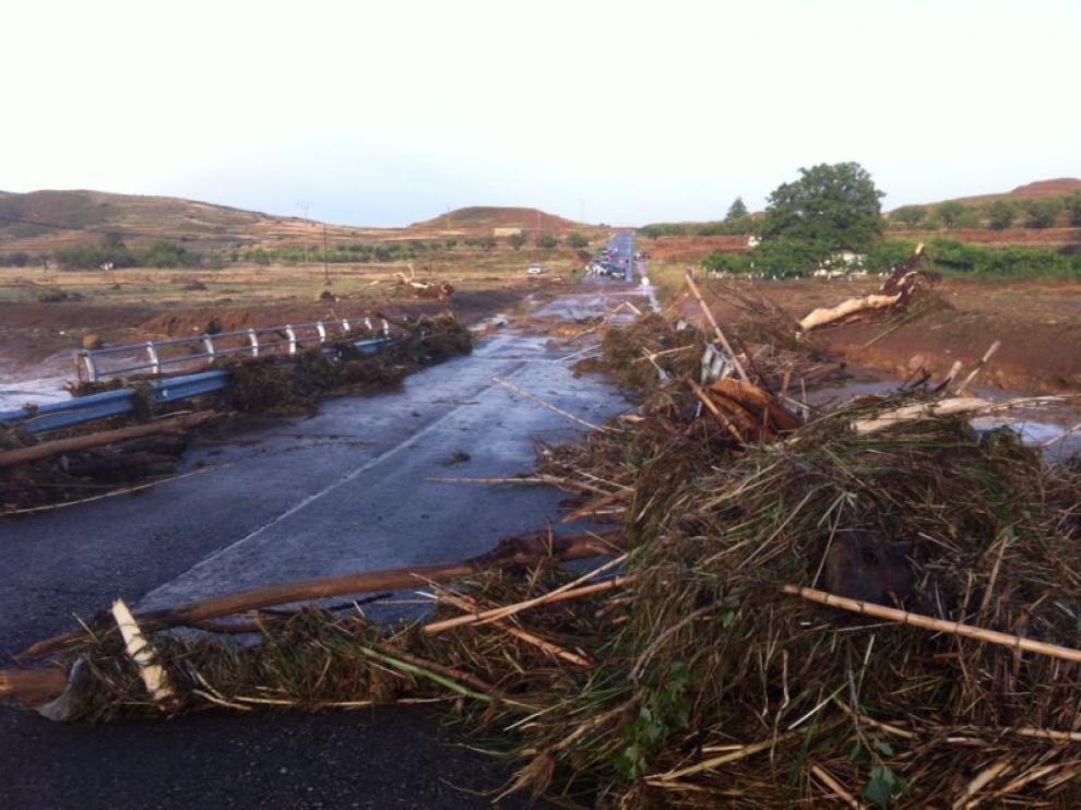 Las fuertes tormentas dejan al menos un desaparecido en Oliete