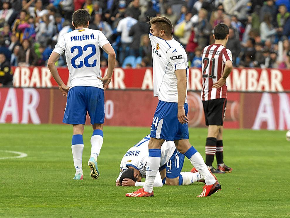 Partido del Real Zaragoza con el Athletic de Bilbao que terminó con  un 1-2