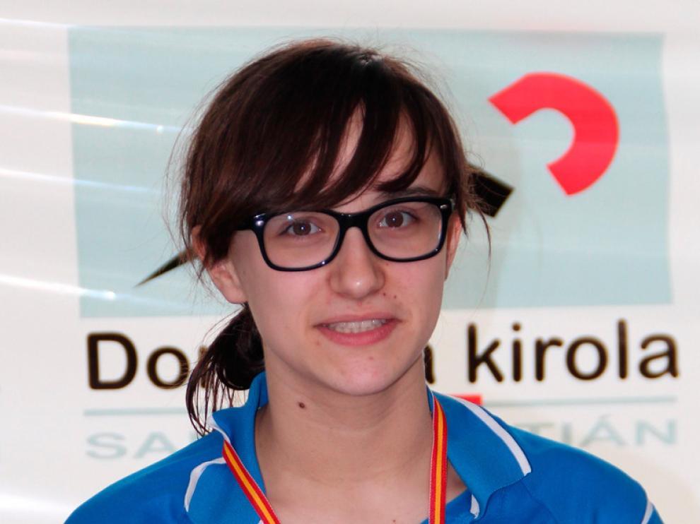 La nadadora aragonesa María Delgado