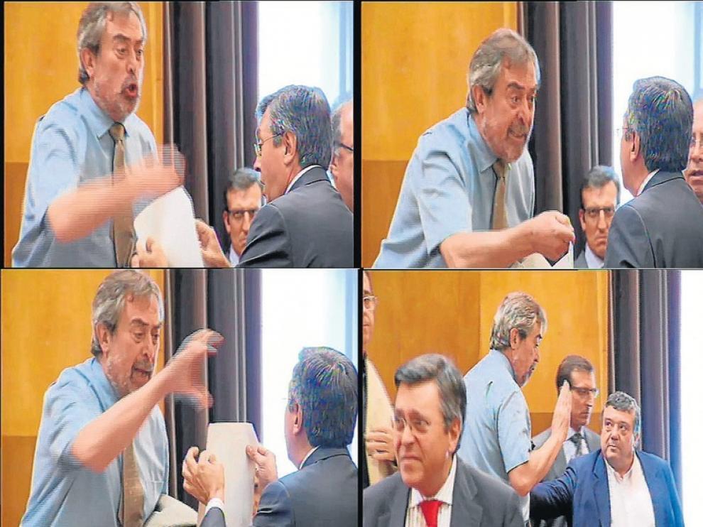 Secuencia del polémico pleno de julio de 2012
