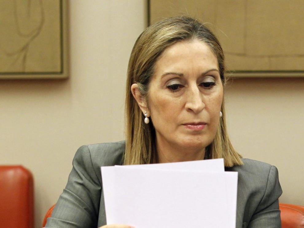 Ana Pastor en su comparecencia en el Congreso de los Diputados