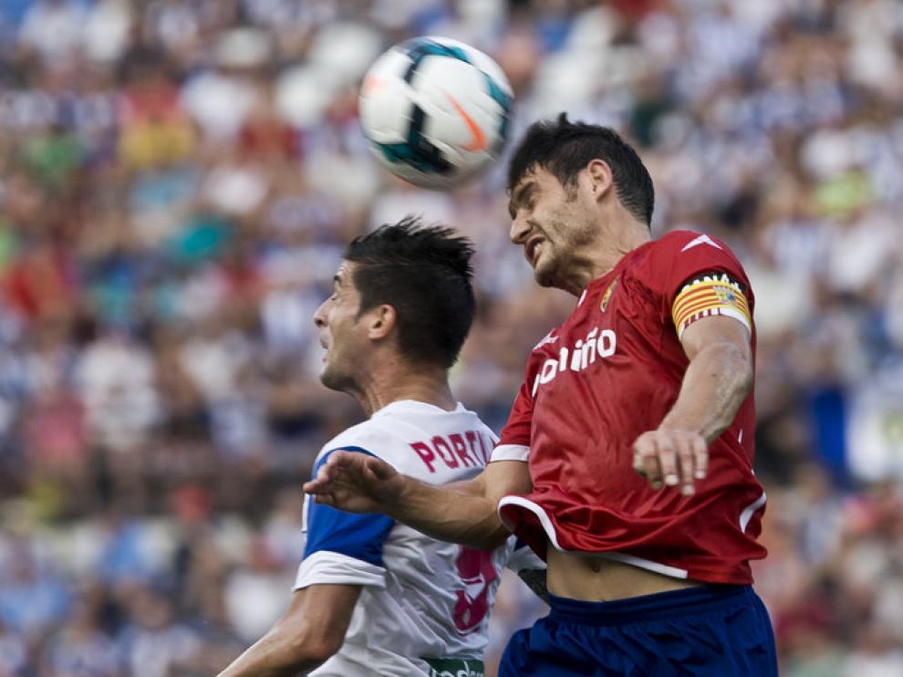 Partido disputado este fin de semana entre el Hércules y el Real Zaragoza