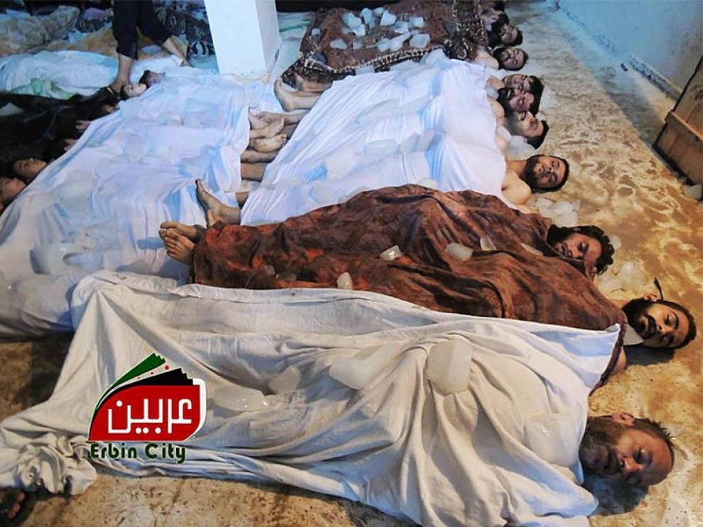 Fotos de posibles fallecidos por el ataque con armas químicas