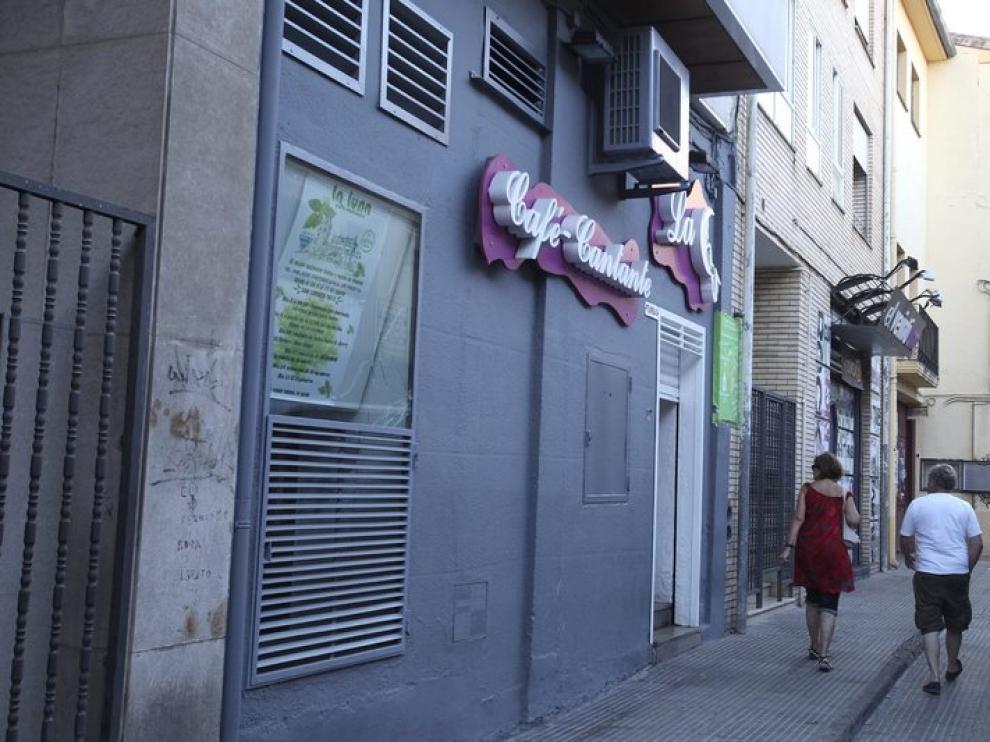 Antiguo bar 'El Tumbao' de Huesca, ahora 'La Luna'.