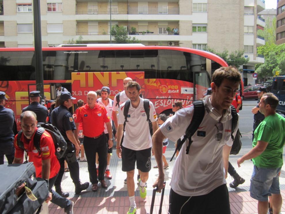 La selección en Zaragoza