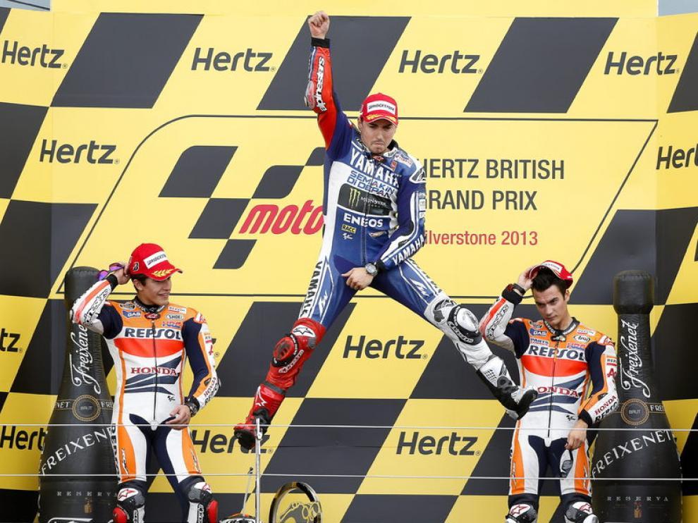 Podio del Gran Premio de Gran Bretaña