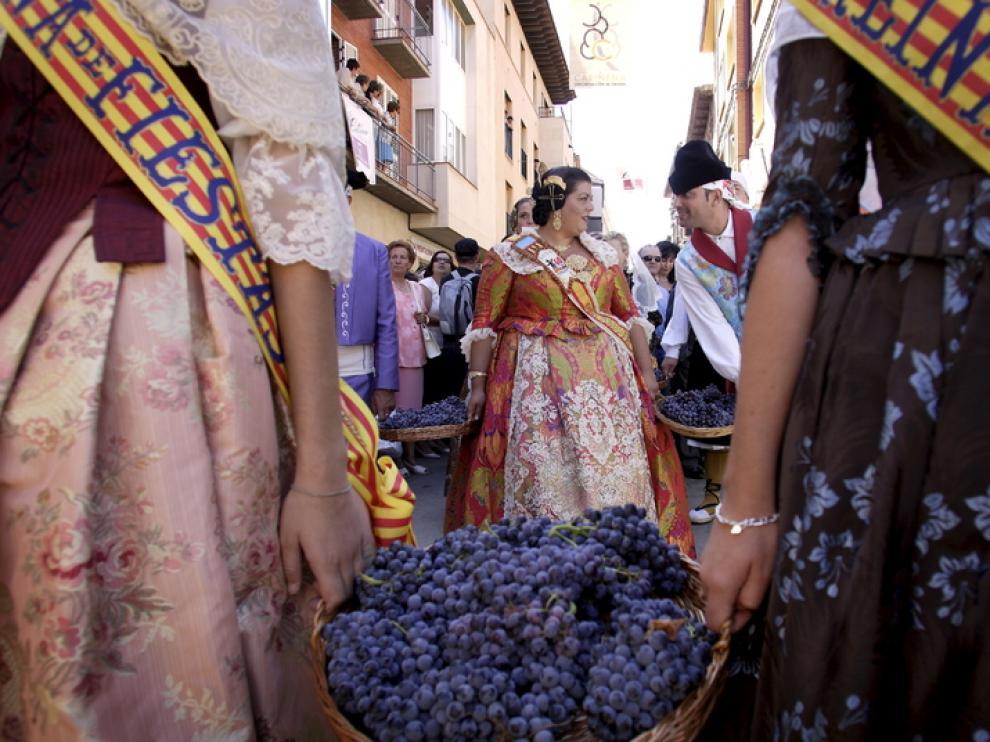 La Fiesta de la Vendimia en Cariñena en años anteriores.