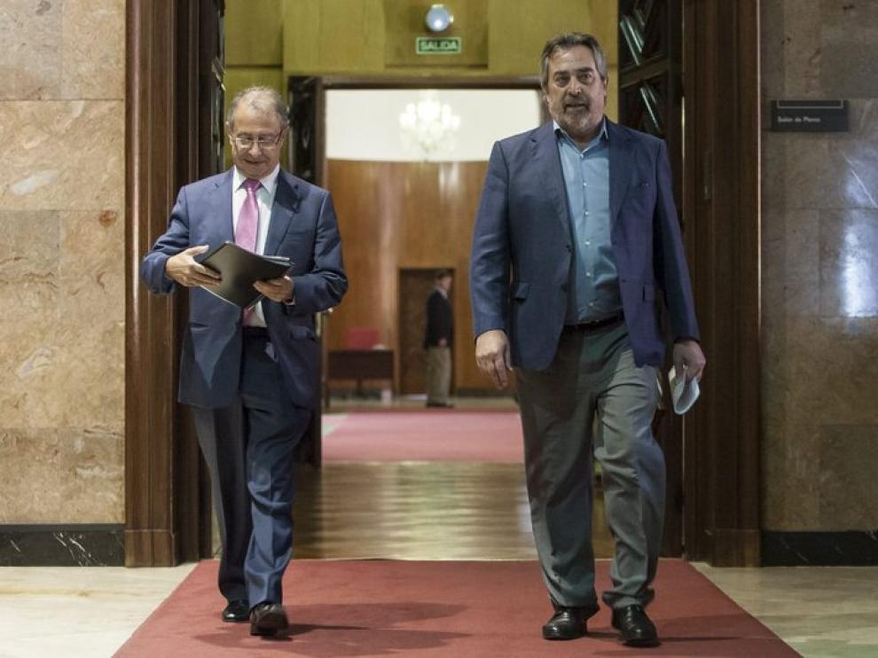El alcalde Belloch y el vicealcalde Gimeno
