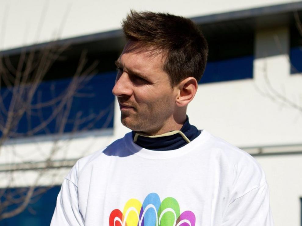 Leo Messi se ha puesto la camiseta de Madrid 2020 en Buenos Aires.