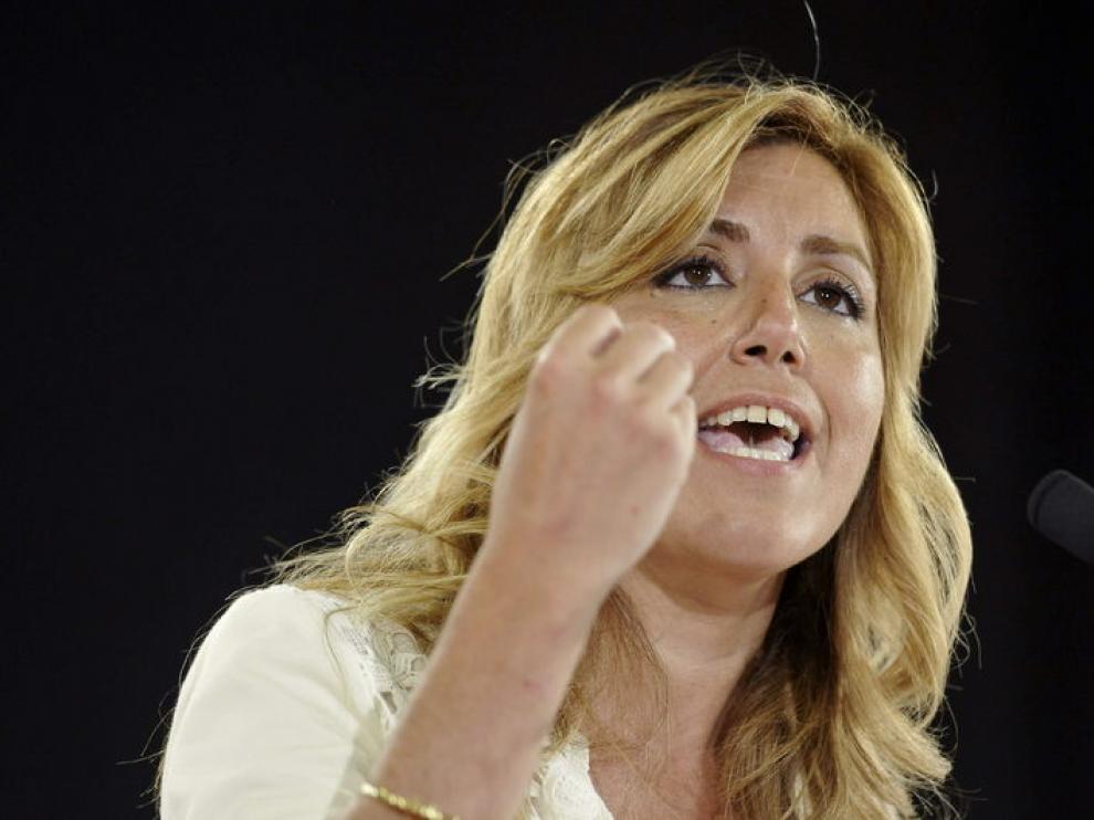 La candidata socialista Susana Díaz, el pasado jueves.
