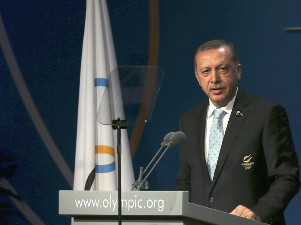 El primer ministro turco en la presentación de Estambul