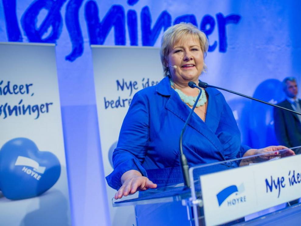 Erna Solberg encabeza el bloquede derecha que ha ganado las elecciones
