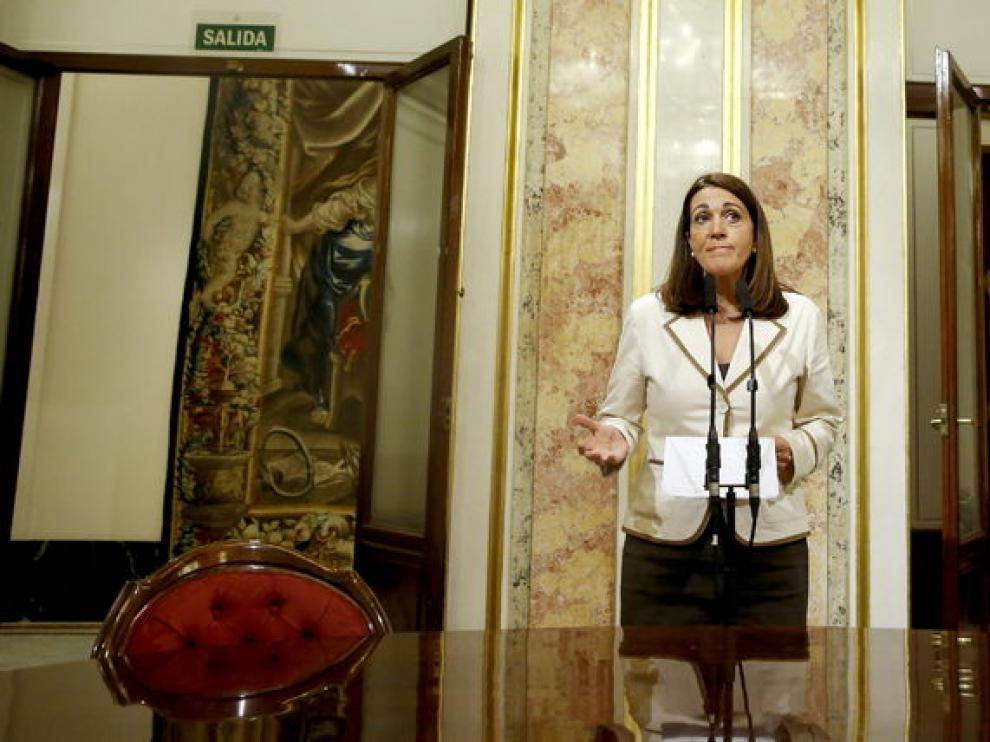 Soraya Rodríguez, en rueda de prensa