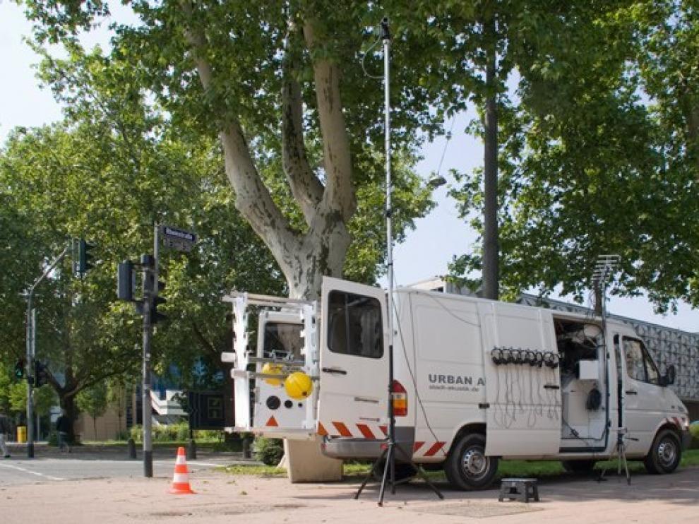 La furgoneta del artista llega a Zaragoza