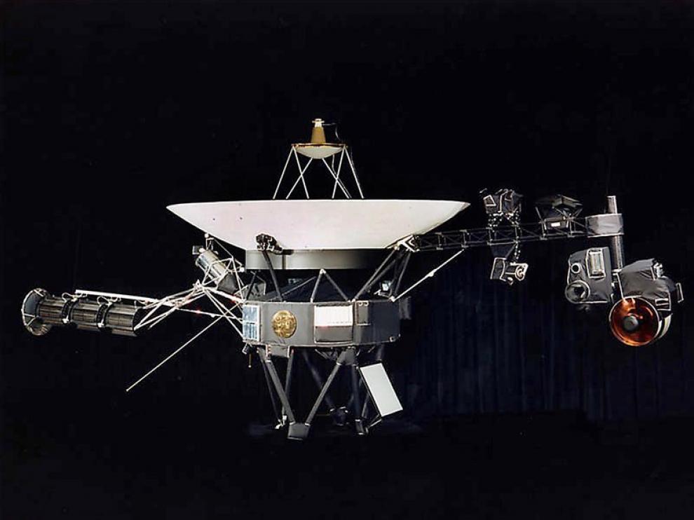 La Voyager 1 despegó de la Tierra en 1977.