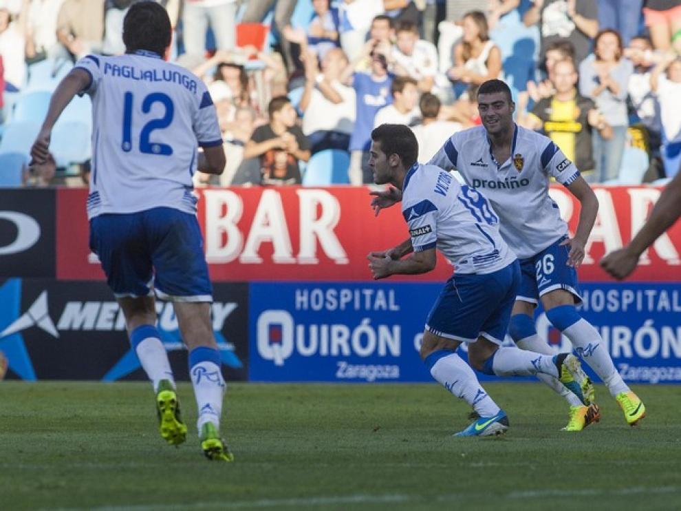 Víctor Rodríguez, motor de la reacción del Real Zaragoza