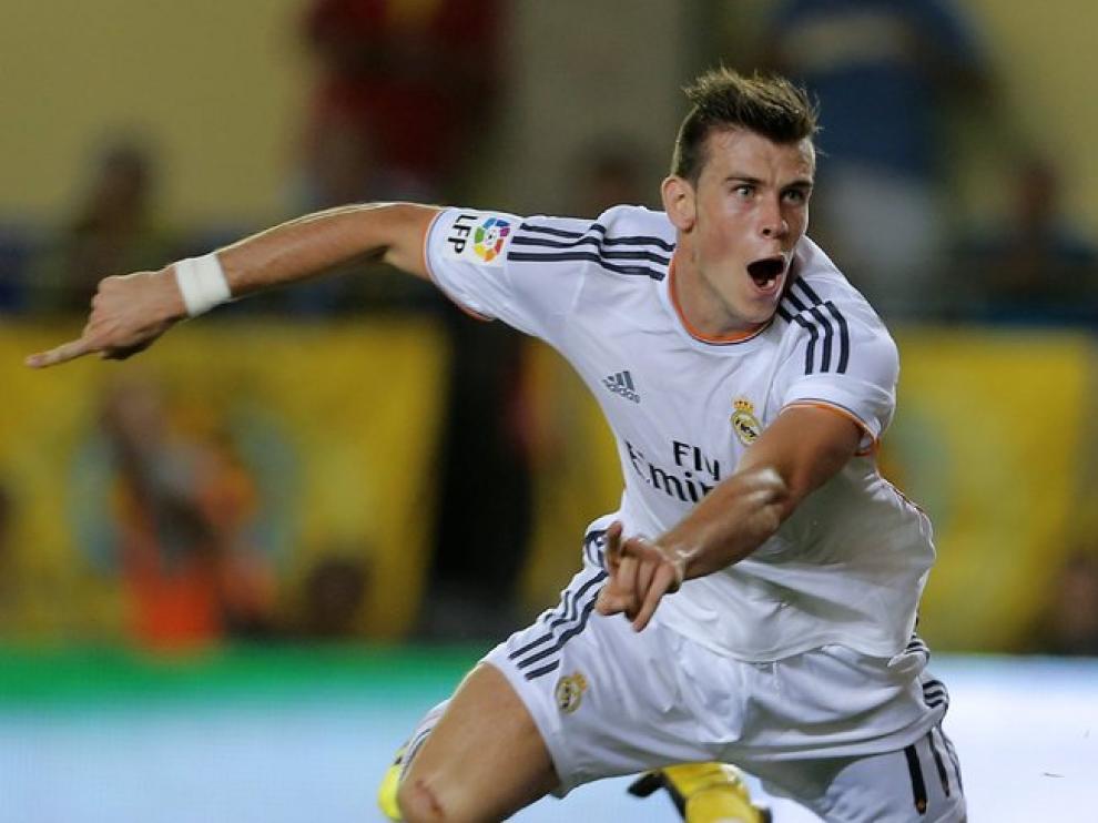 Bale celebra el primer gol del Madrid