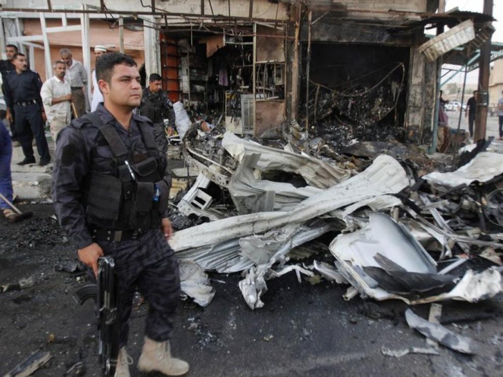 Imagen de un atentado en Irak