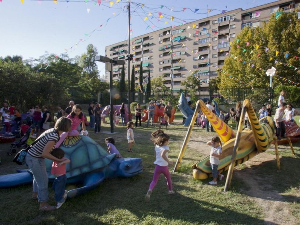 El Parque de los Insectos, en las Fiestas del Pilar 2012