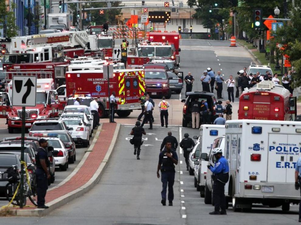 Varias unidades de emergencia desplegadas en la zona del tiroteo