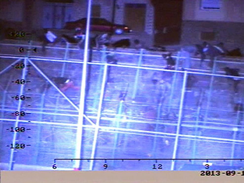 Momento de un asalto a la verja de Melilla