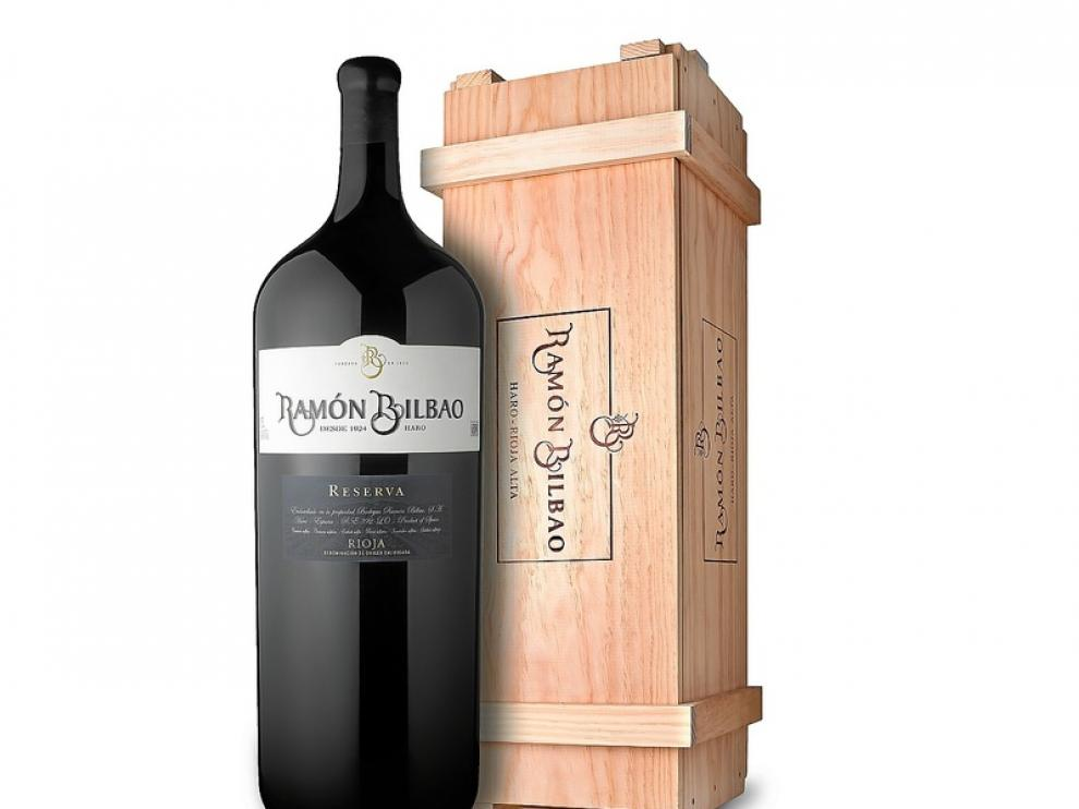 Botella de 15 litros de vino Ramón Bilbao Reserva