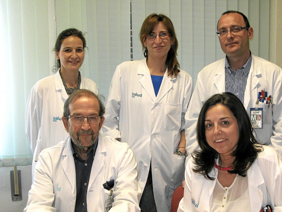 El equipo de Cirugía Vascular del Hospital Miguel Servet de Zaragoza