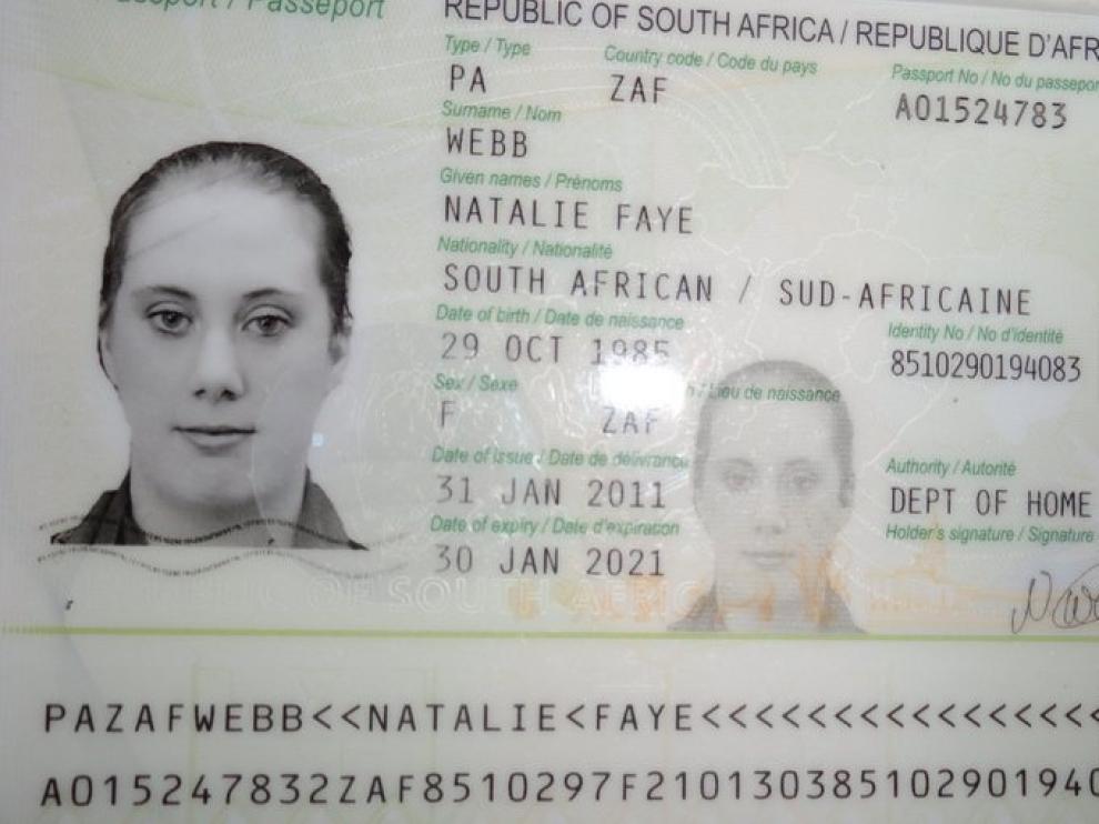 Pasaporte de 'la 'viuda blanca'
