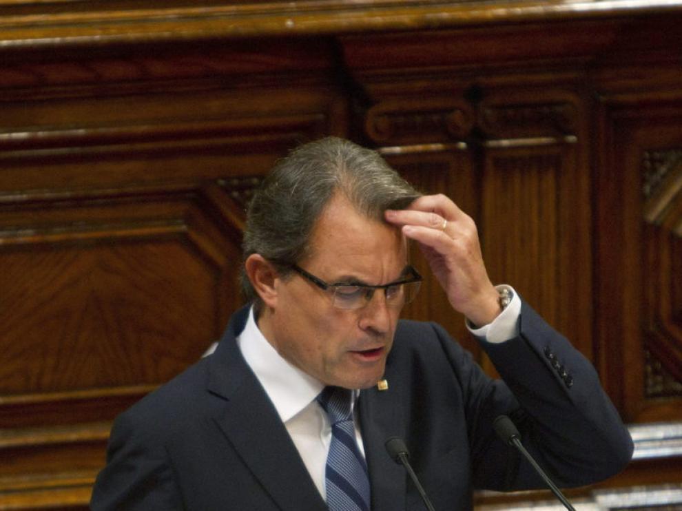 Artur Mas en las Cortes Catalanas