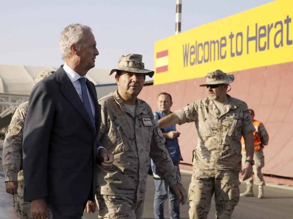Llegada del ministro Morenés a Herat