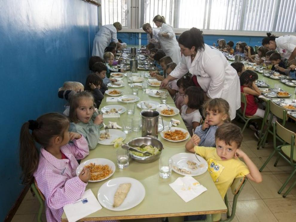 Comedor del colegio Zalfonada de Zaragoza
