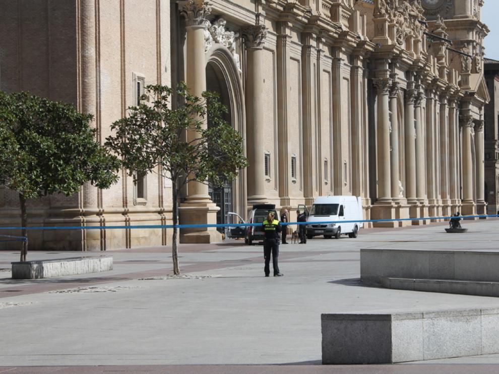 Explosión en la basílica del Pilar