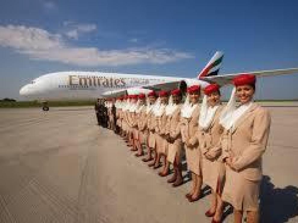 Emirates seleccionará tripulantes de cabina en Zaragoza en noviembre