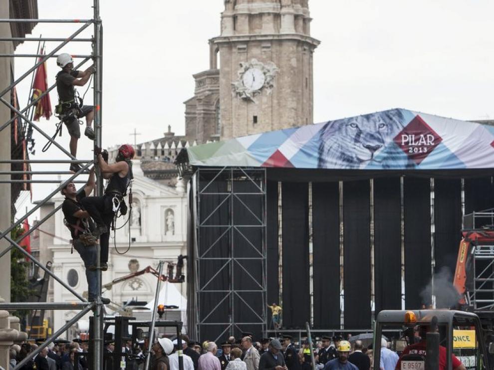 La plaza del Pilar, a punto