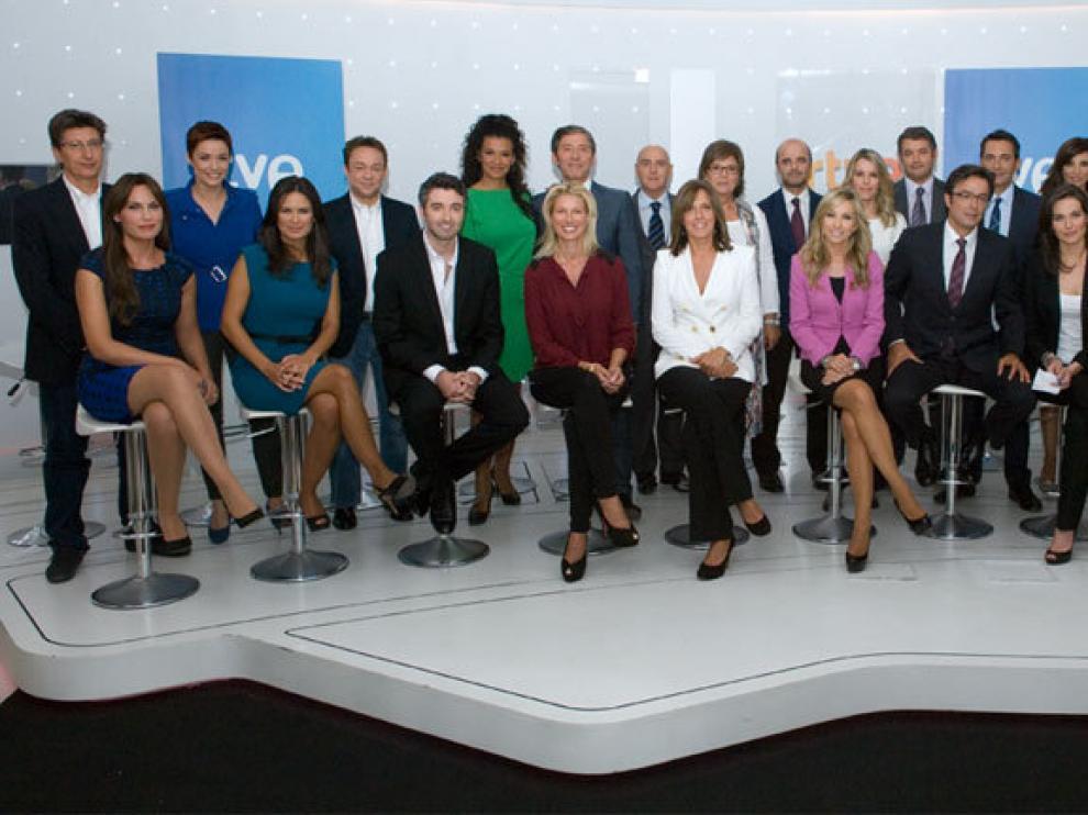 El equipo de presentadores de TVE