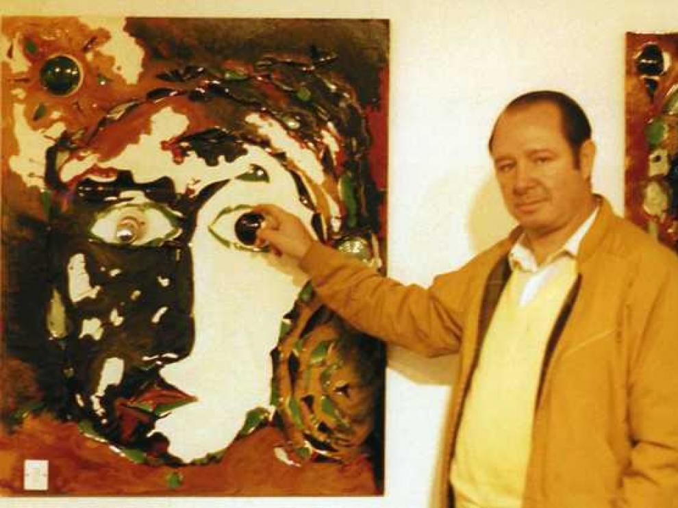 Manuel García Maya en 1986, cuando expuso en Filosofía y Letras.