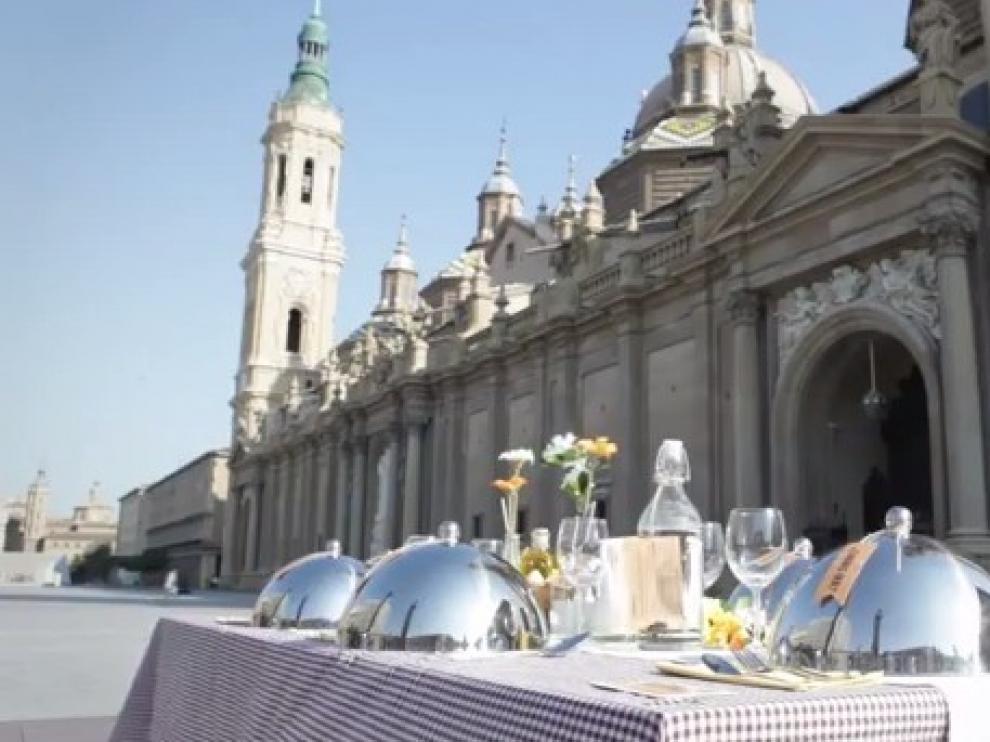 Pon Aragón En Tu Mesa sorprende con una mesa repleta de productos aragoneses