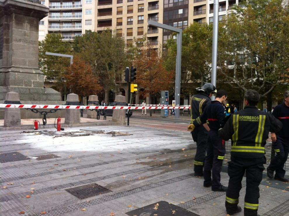 Incendio en la plaza Aragón